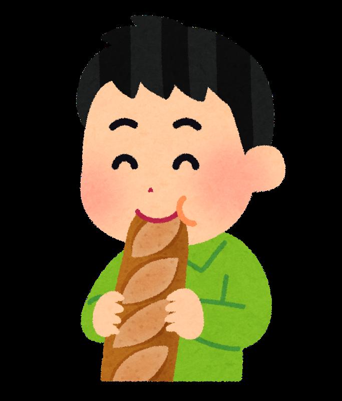 パン 食べる